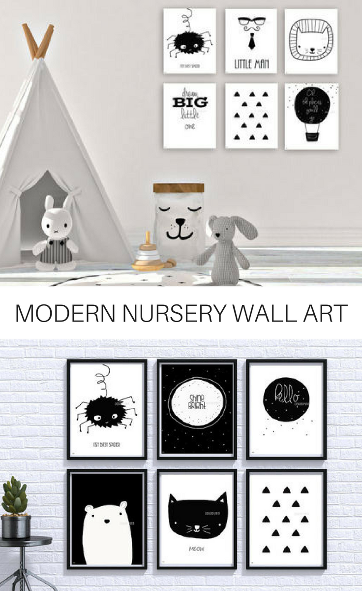 Black And White Wall Art Perfect For A Modern Nursery