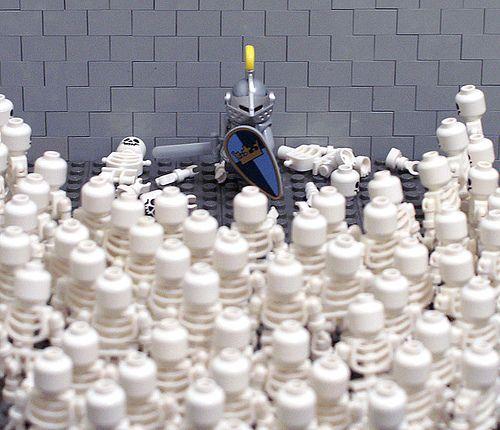 LEGO Skeleton Army   LEGO Knight vs Skeleton Army   LEGO Skeletons ...