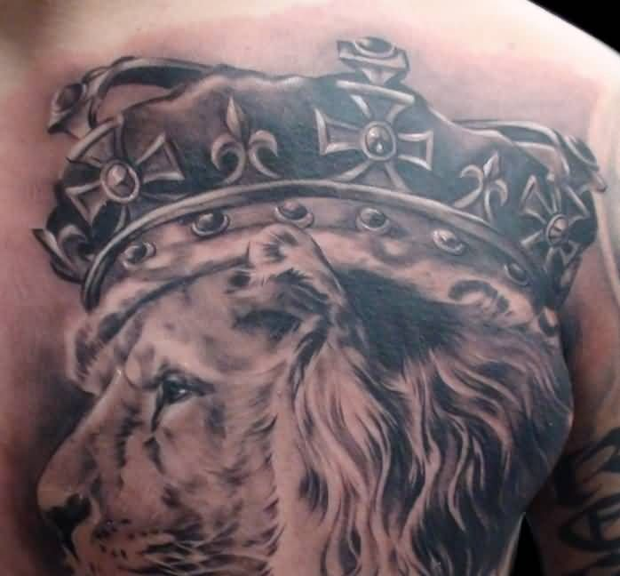 Witch King Tattoo On Guy S Chest: Crown Men Tattoos. TattoosHunter