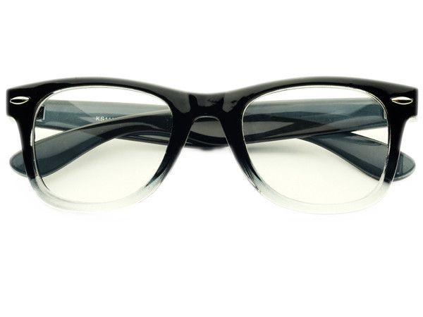2eea850d03 Retro Clear Lens Wayfarer Glasses Frames Black W521