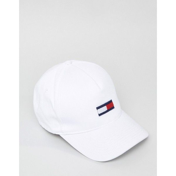 62d28825 Tommy Hilfiger Denim Flag Baseball Cap White ($37) ❤ liked on Polyvore  featuring men's fashion, men's accessories, men's hats, white and mens caps  and hats