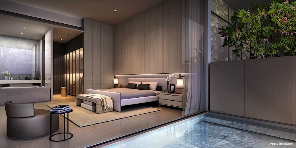 Cluny Park Residence modern bedroom suite Singapore