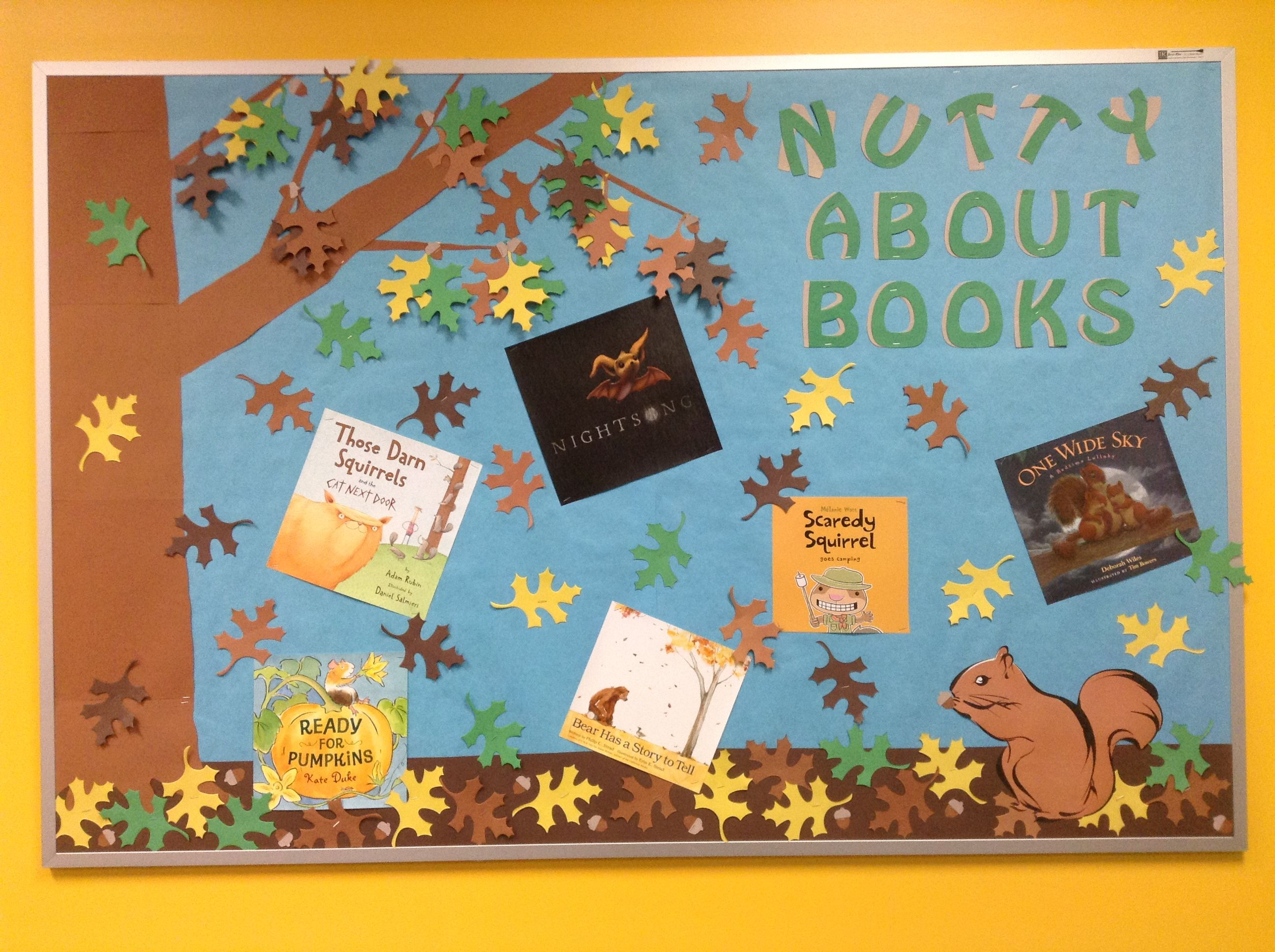 Nutty About Books Bulletin Board In The Newark Library