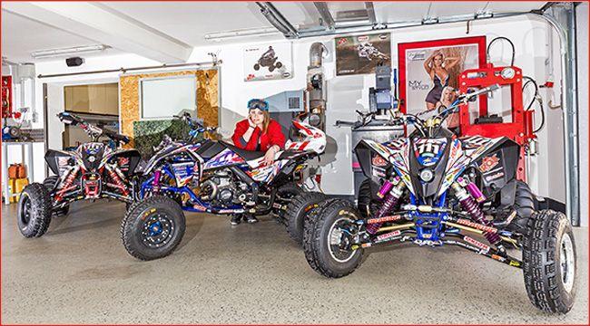 Klaus fleckinger rennen auf eigenbauquads future garage for Garage auto quad passion
