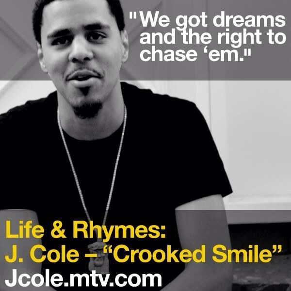 "J Cole Crooked Smile Quotes J. Cole, ""Crooked..."