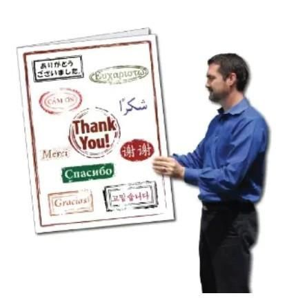 2 X3 Giant Thank You Card Language W Envelope With Images