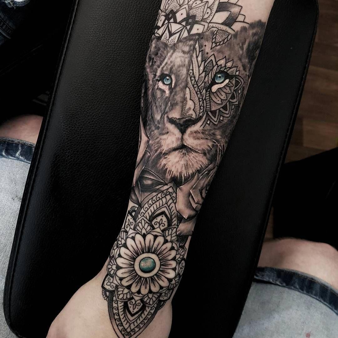 Tattoo Tattooartist Lionesstattoo Stencilstuff Blkpowder Killerinktattoo Skindeeptattoo With Images Lioness Tattoo Feminine Tattoo Sleeves Mandala Tattoos For Women