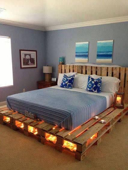 Diy Pallet Bed Frame With Light Underneath Best Ideas