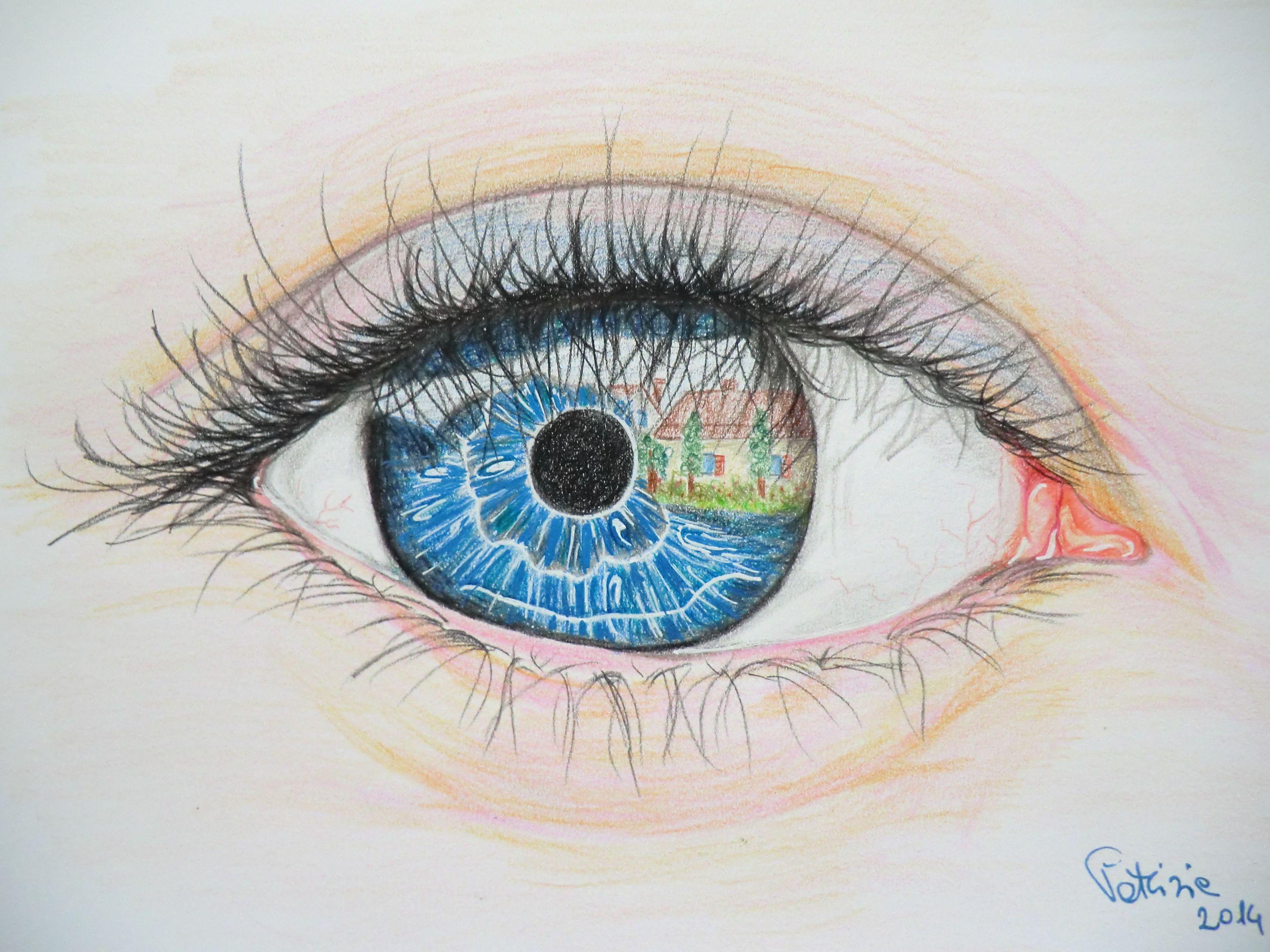 Occhio con riflesso