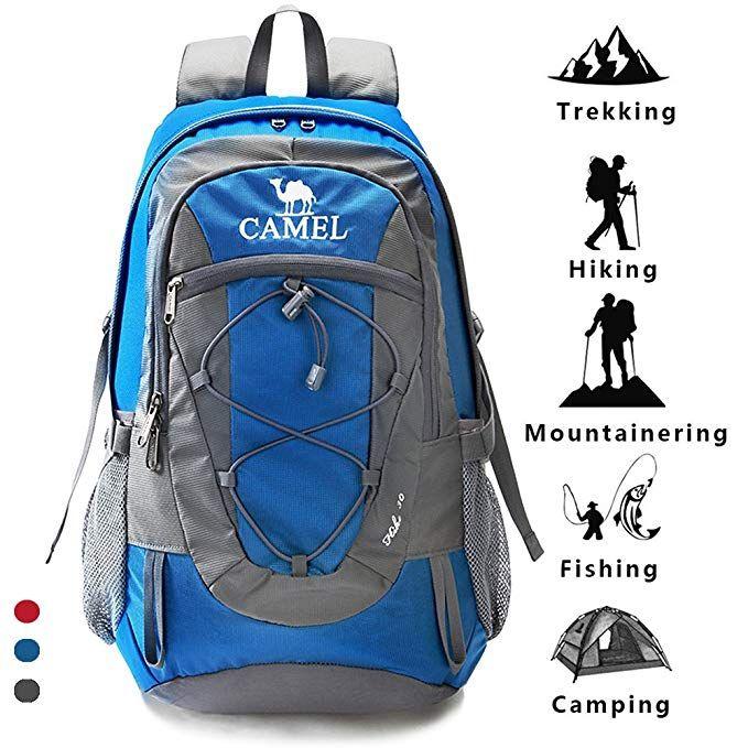da0516695a48 Camel Trekking Rucksacks Hiking Backpack Lightweight Travel Packable  Rucksack Durable Waterproof Sports Daypack 30L