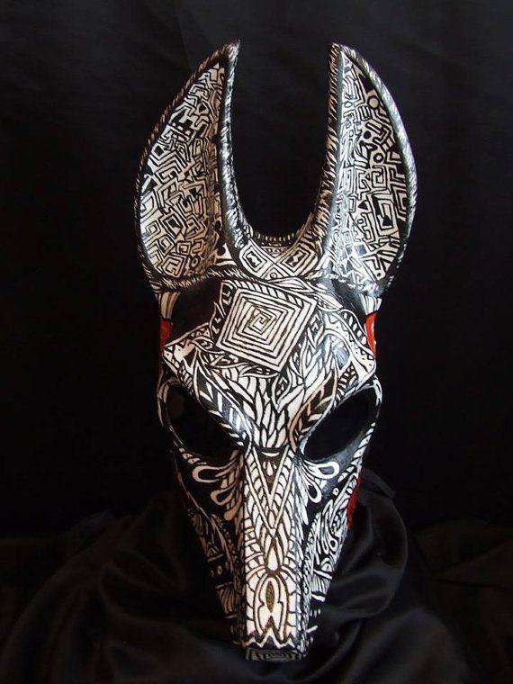 Paper Mache Mask Making Head Anubis Maske African