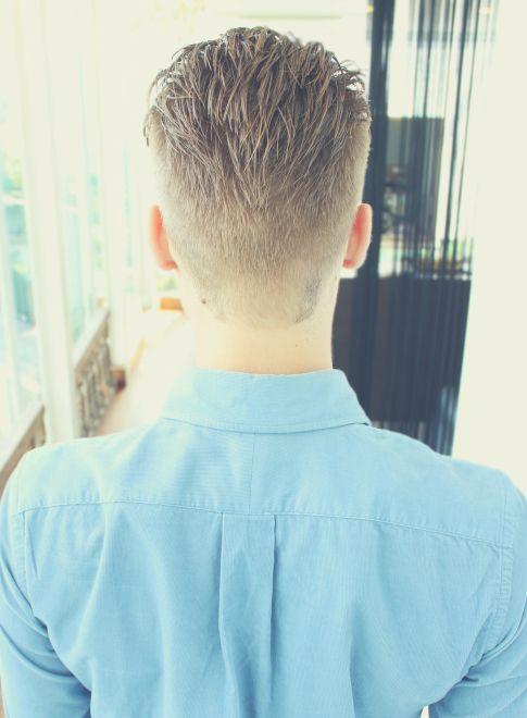 外国人風 Ny刈り上げ七三 髪型メンズ ヘアカット ヘアスタイル