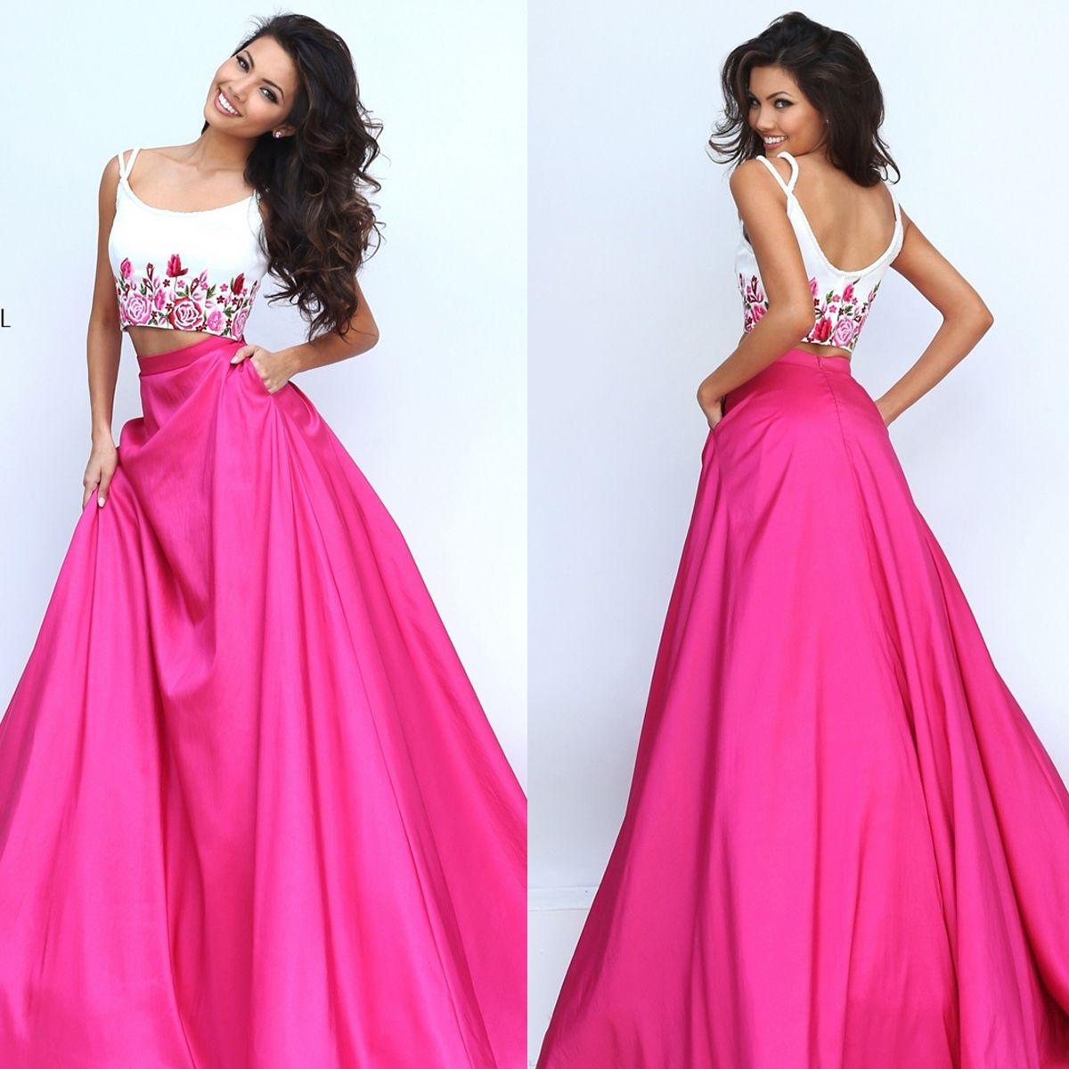 Two Piece Sherri Hill Long Ball Gown | dresses | Pinterest ...
