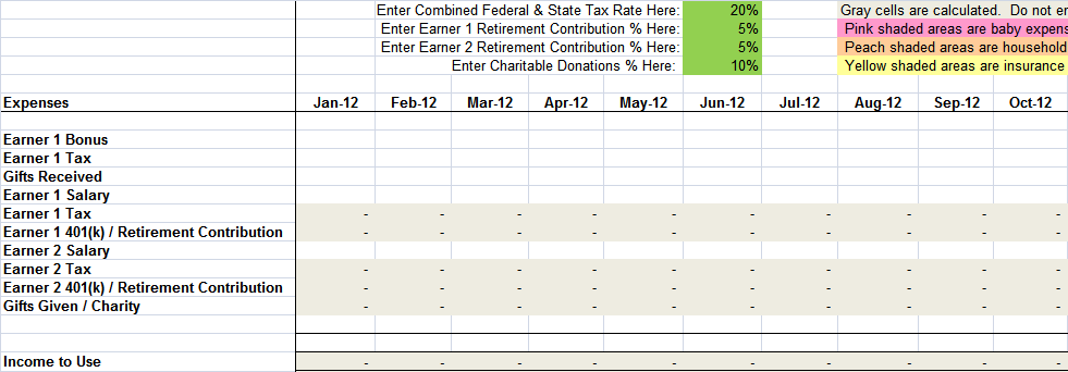 Free Sample Monthly Expenses Spreadsheet  Budget Spreadsheet