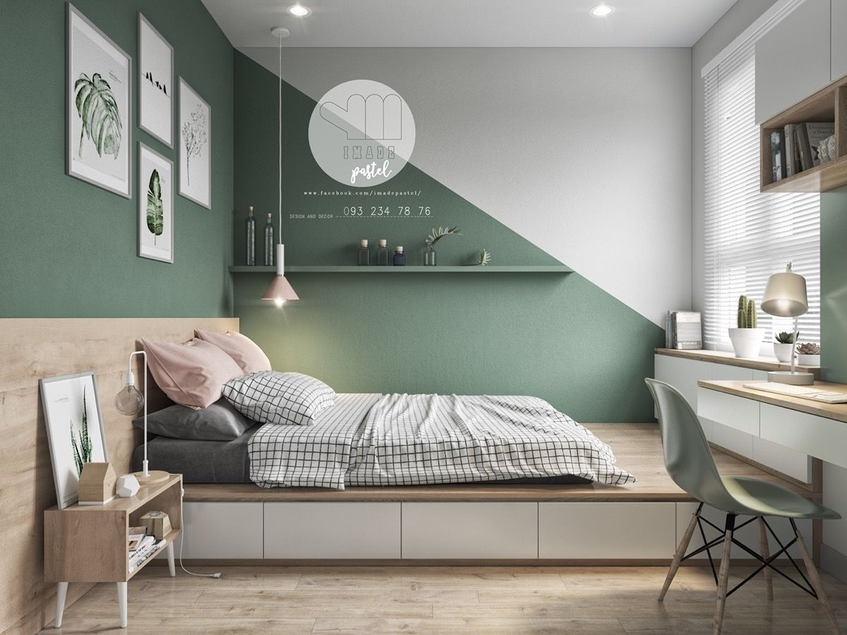 It's easy to go all out with colour in our homes. We pick a few shades and boom! There it