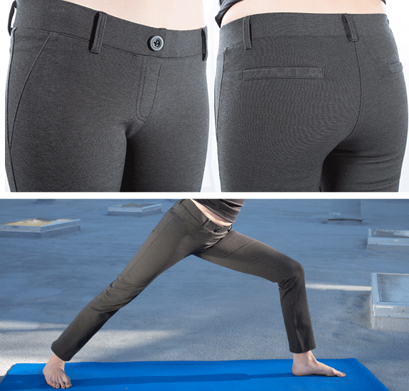 Yoga style dress pants