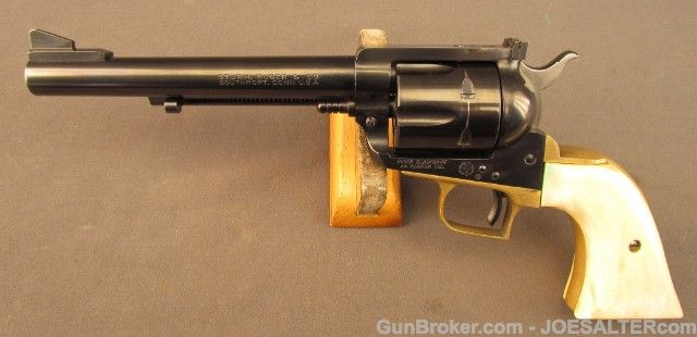 Ruger Blackhawk Flattop with Brass Grip Frame & Ivory Grips