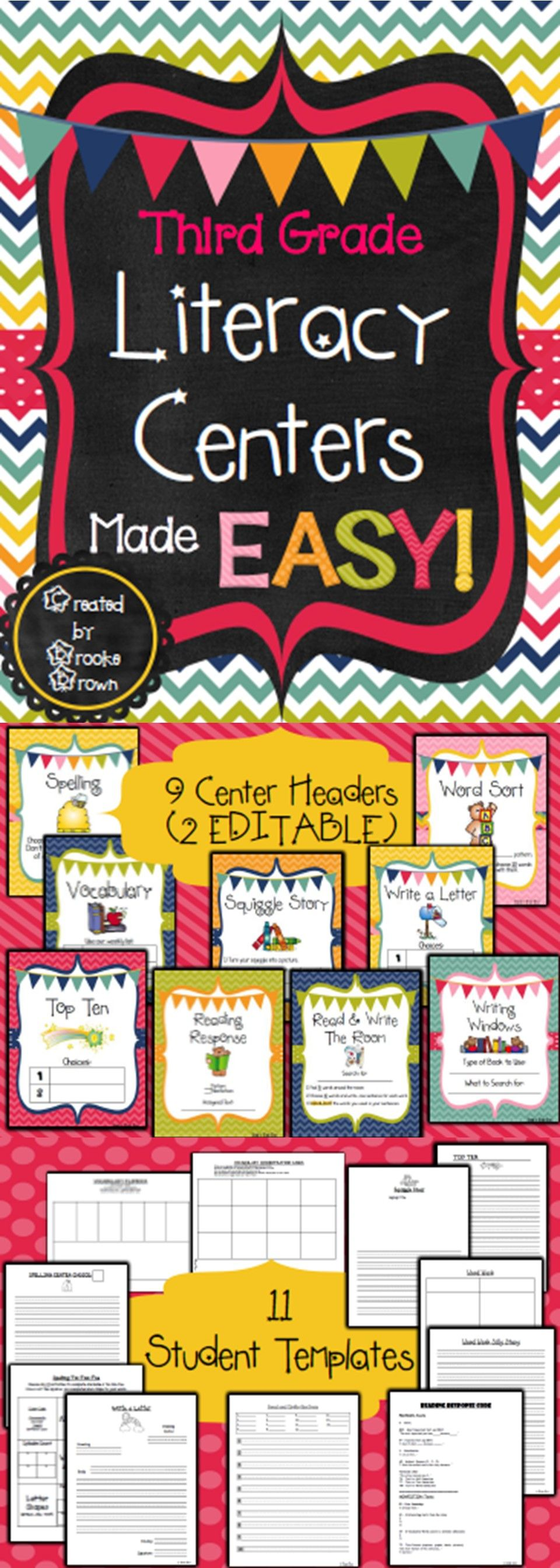 Third Grade Literacy Centers Made Easy Third Grade Literacy Third Grade Literacy Centers Third Grade Classroom Reading activities for grade centers