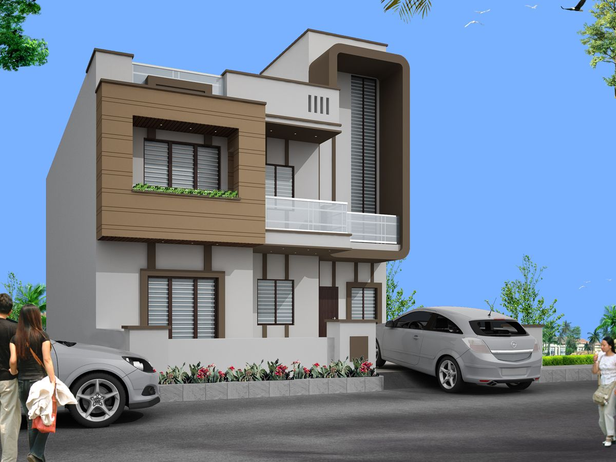 Front Design Of House In Jaipur Part - 33: Image Result For Elevations Of Independent Houses