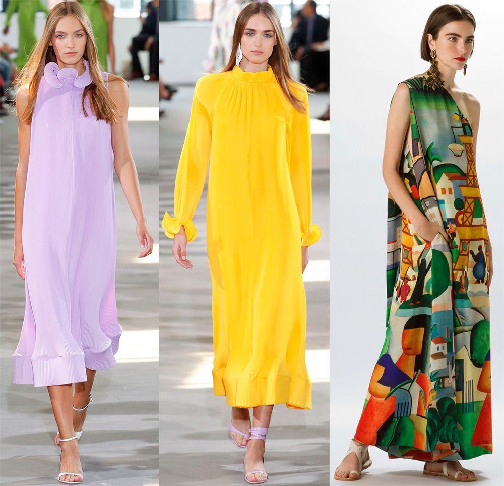 Выкройка модного платья на весну-лето