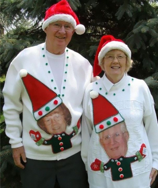 Pull Couple Noel 26 des plus horribles pulls de noël   Pull noel, Deguisement noel