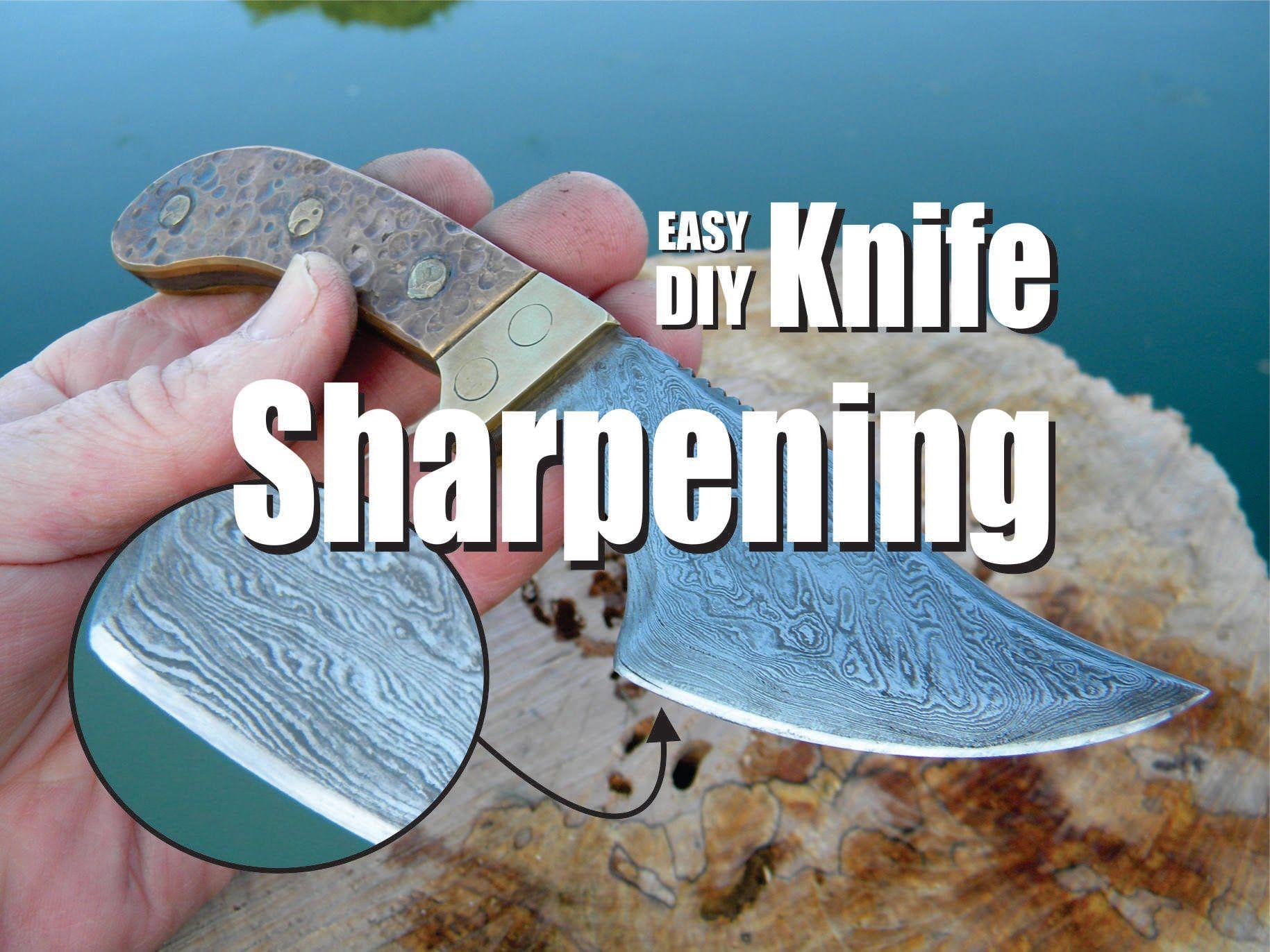 Diy easy knife sharpening with lansky sharpening stones