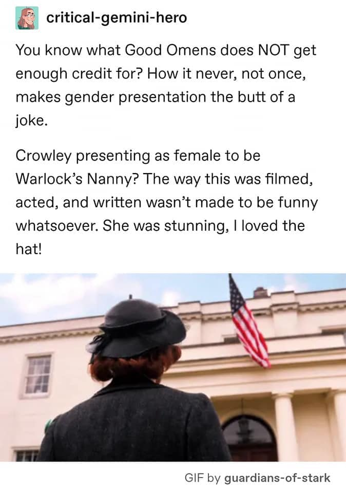 Photo of Gender Presentation in Good Omens