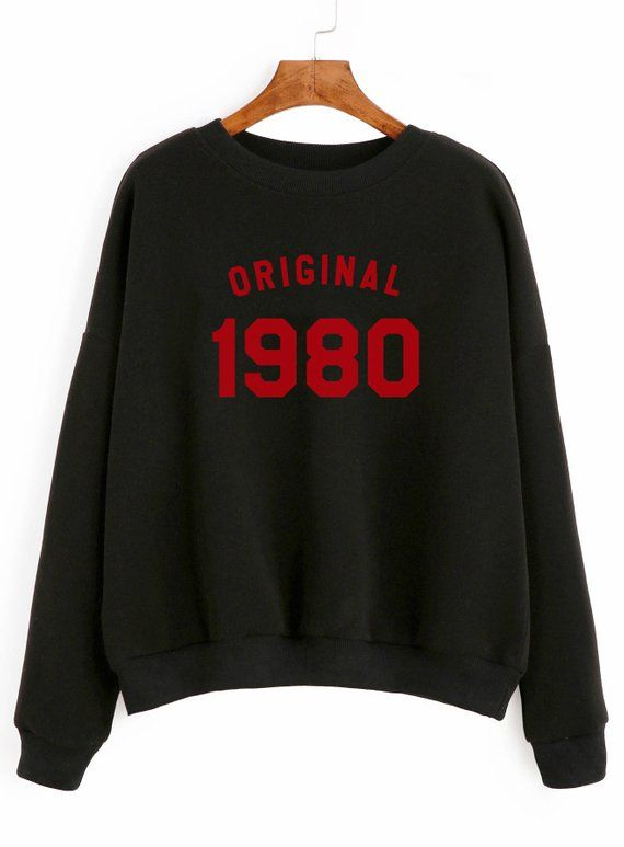 d5905bd8 38th birthday gift sweatshirt number tshirt birthday shirt 1980 sweater  pullover sweatshirt women gi
