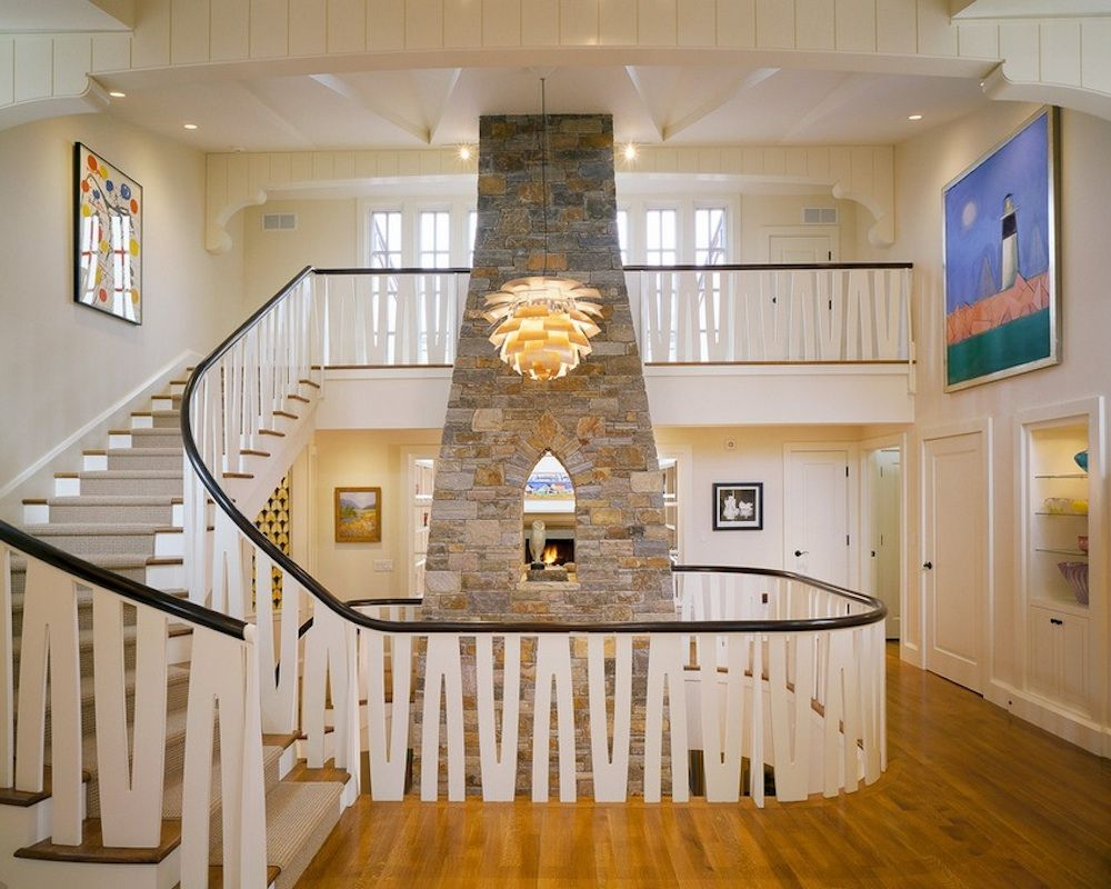 Exceptional Fireplace Chimney At Foyer