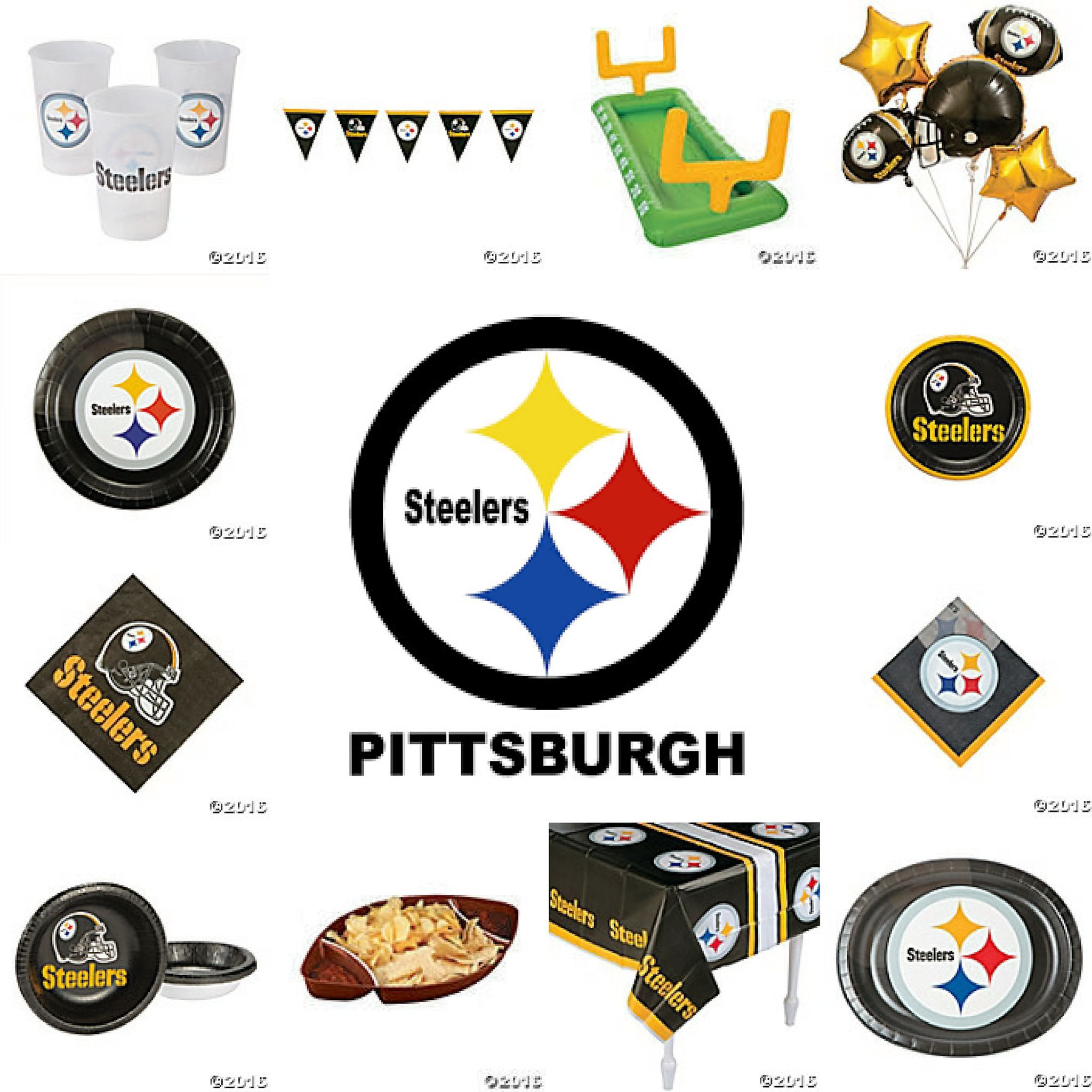 Pitsburgh Steelers NFL Football Hoopla Party Pack | Steelers party ...
