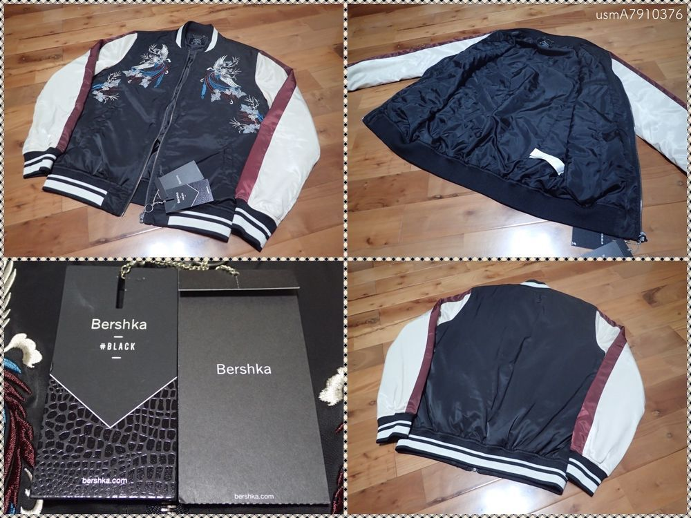 Куртка bershka с вышивкой