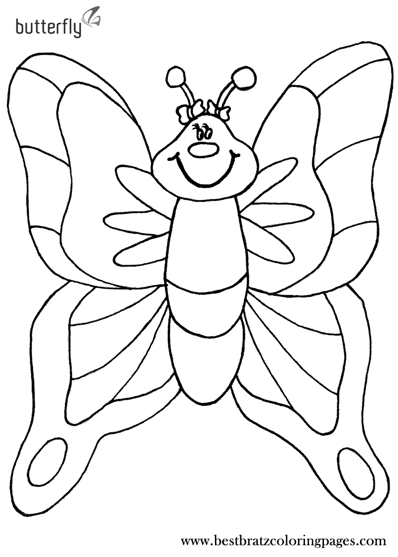 Printable Butterfly Coloring Pages For Kids Bratz Coloring Pages