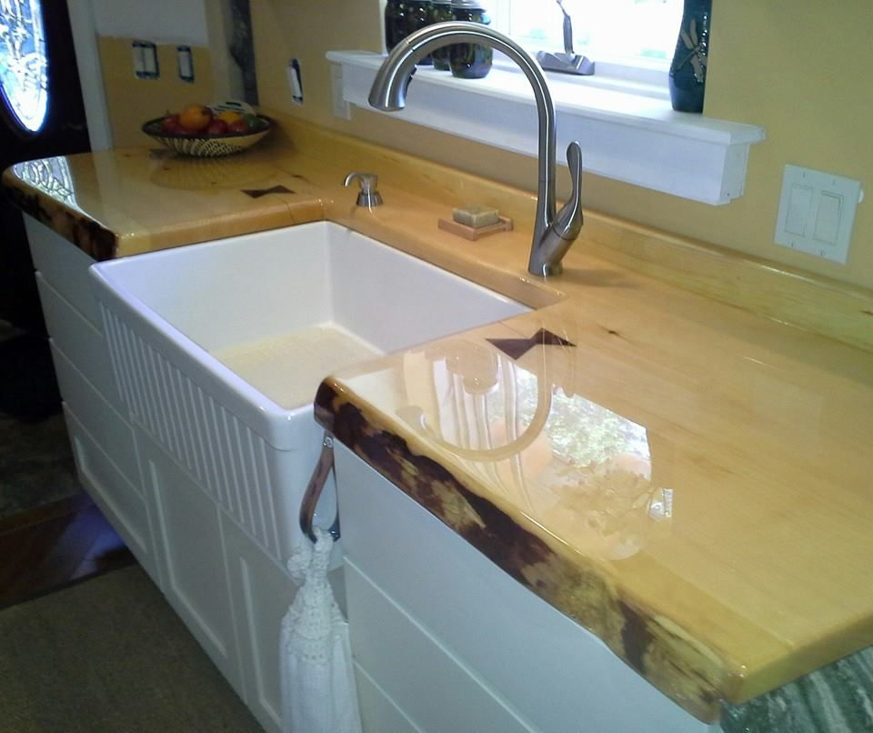 Live Edge Pine Countertops, Bar Tops & Mantles (With ...