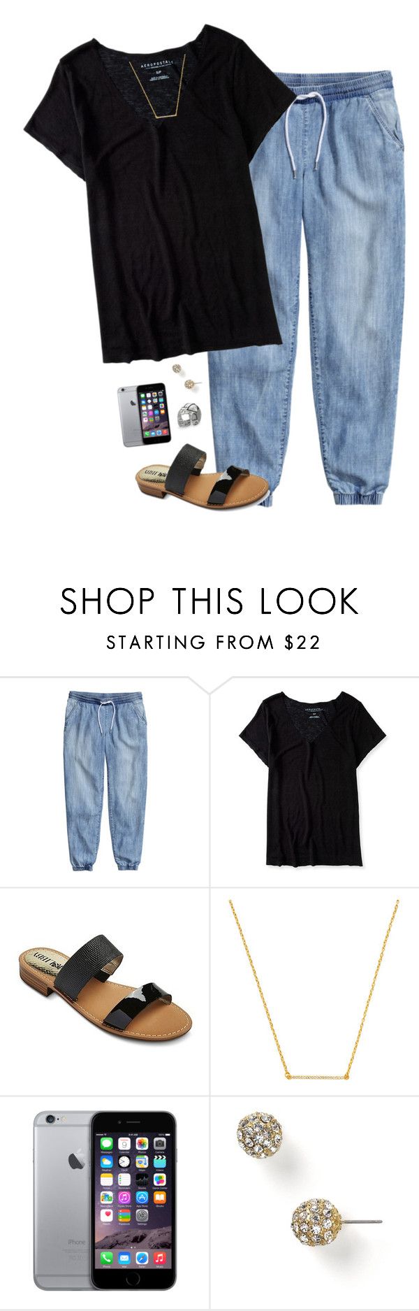 """""""Very similar oorn! Friday night football!!"""" by i-am-bryana ❤ liked on Polyvore featuring H&M, Aéropostale, Sam & Libby, Kevia, Carolee and Individuality Beads"""