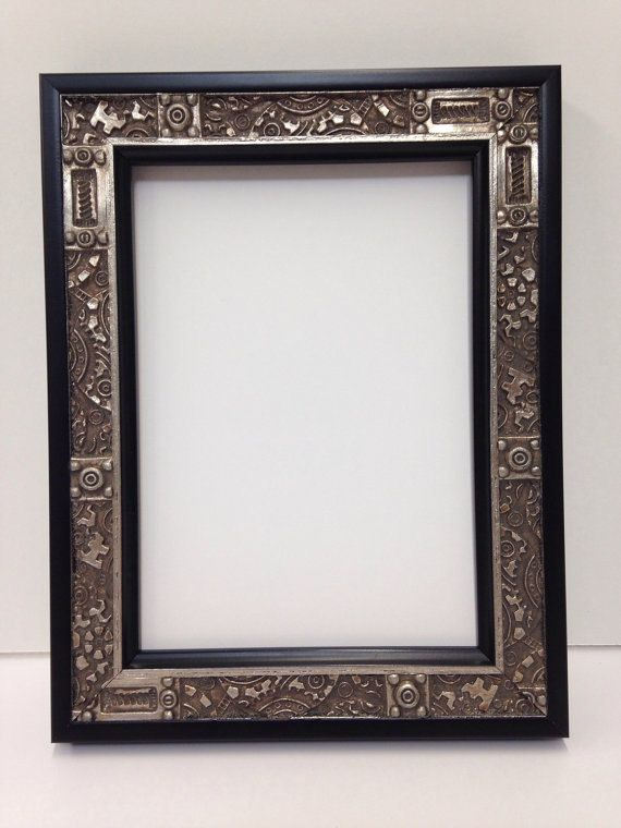 Industrial Steampunk Picture Frame Silver 3x5 4x6 5x7 Unique Picture Frames Picture Frames For Sale Frame