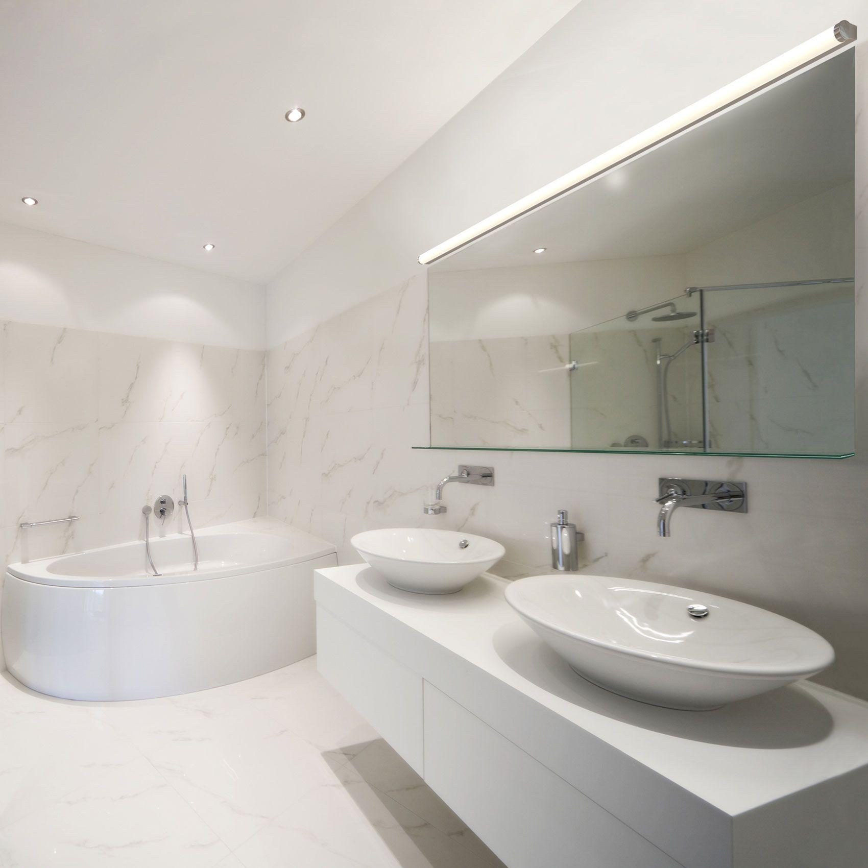 Bathroom Lighting Color Temperature twiggy t1 lens 1 inch rectangle canopy vanity walledge
