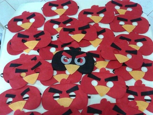 Máscaras Angry birds