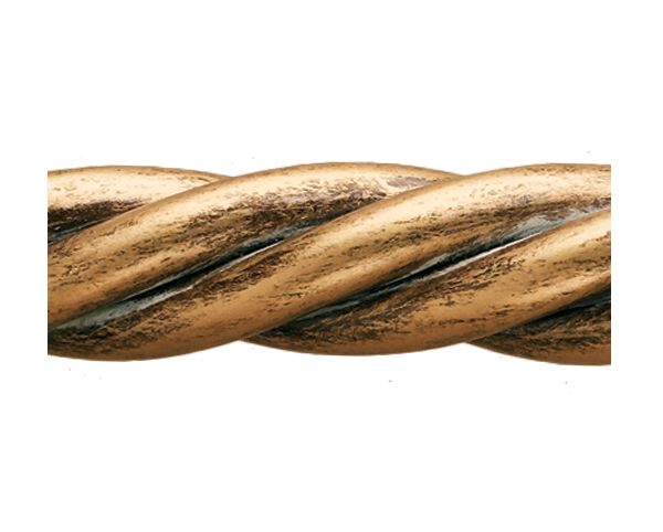 The Finial Company 4 Foot 1 Rope Twist Solid Drapery Pole