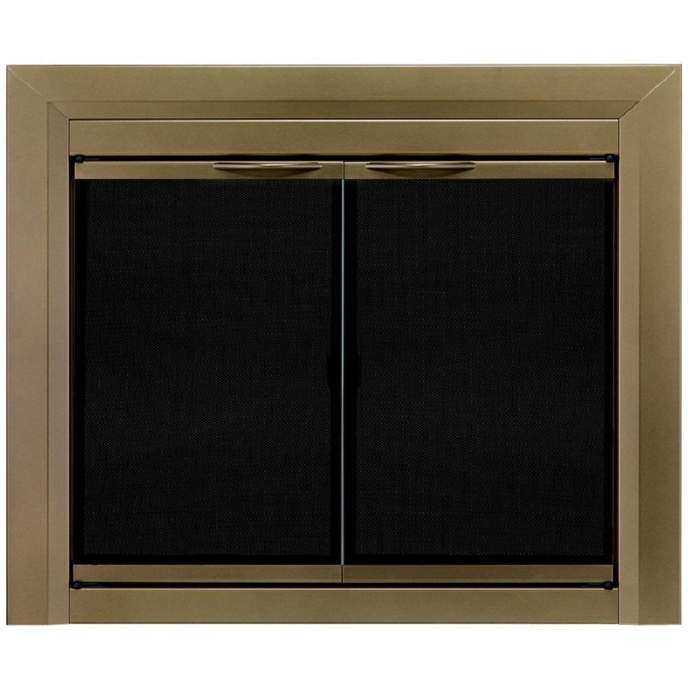 Pleasant Hearth Cahill Medium Glass Fireplace Doors Ca 3201