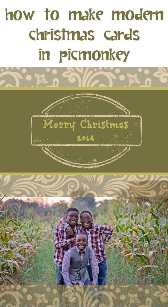 Make Modern Christmas Cards Using PicMonkey #picmonkey #christmascards