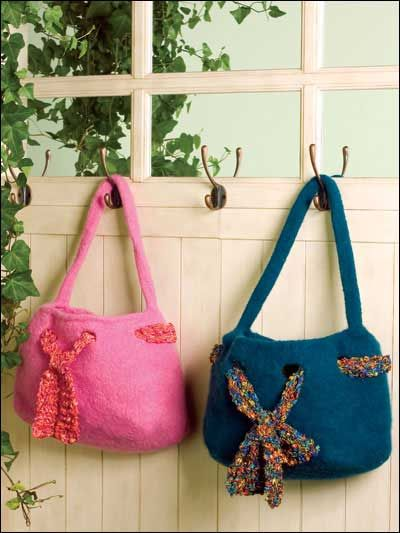 Claudia S Felted Purse With Scarf Free Knitting Pattern Of The Day From Freepatterns 9