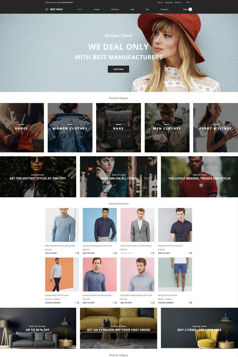 Best Price Wholesale Store Multipage Creative Shopify