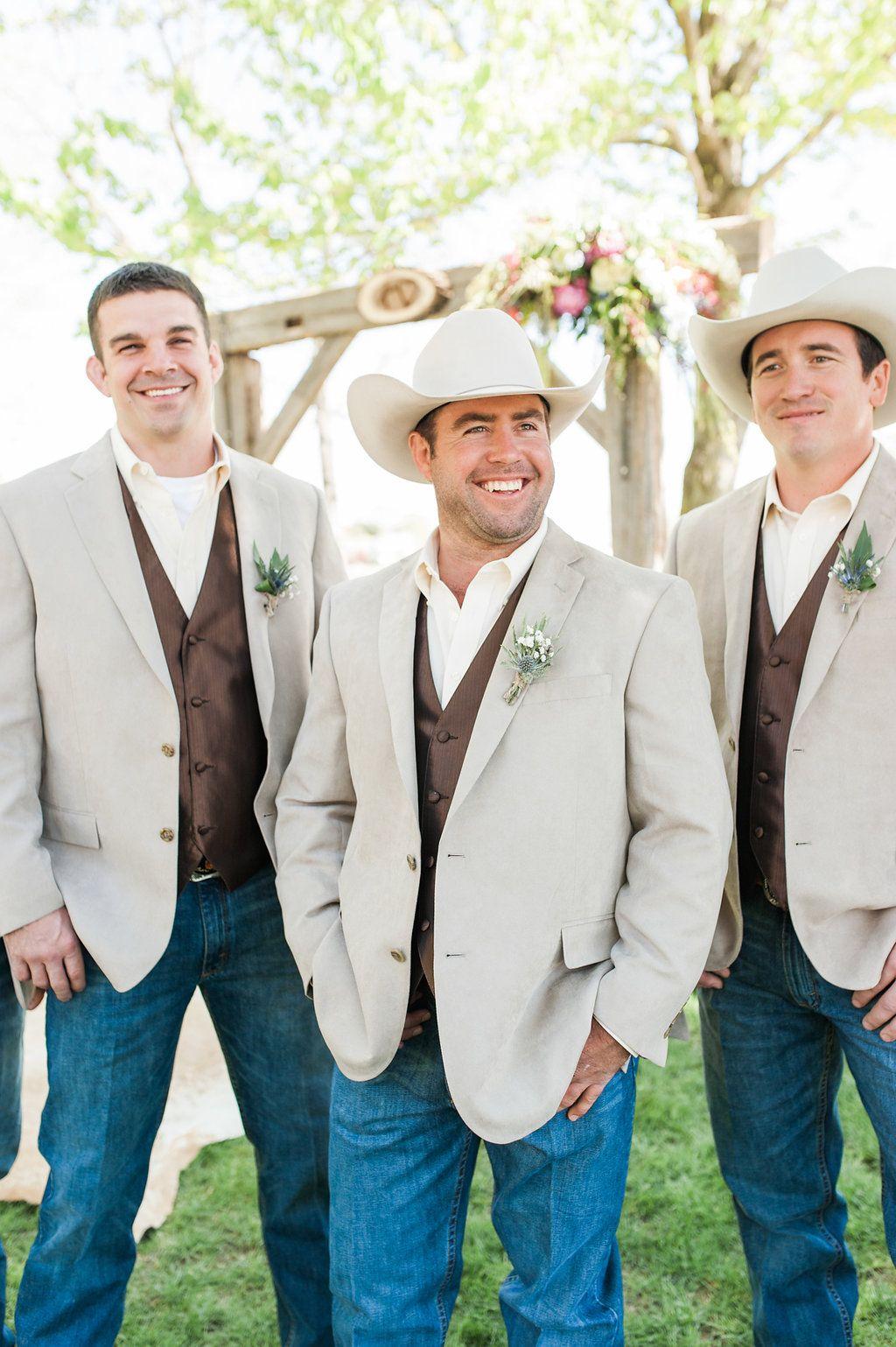 A classic rustic iowa wedding country wedding groomsmen