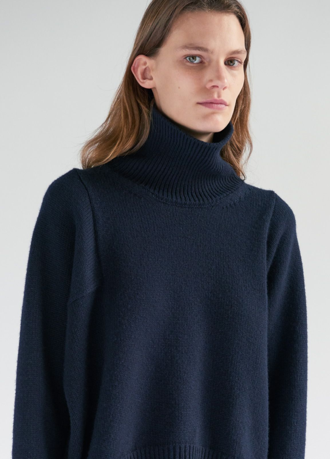 0985253cb62 High Neck Sweater in Technical Lux Cashmere - Spring   Summer Collection  2017