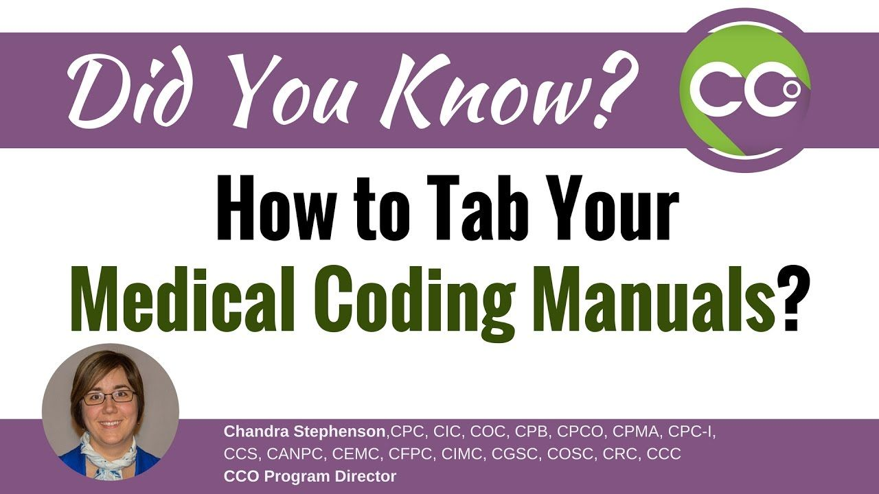 how to tab your medical coding manuals youtube back to school rh pinterest com medical coding manuals definition medical coding training manual pdf