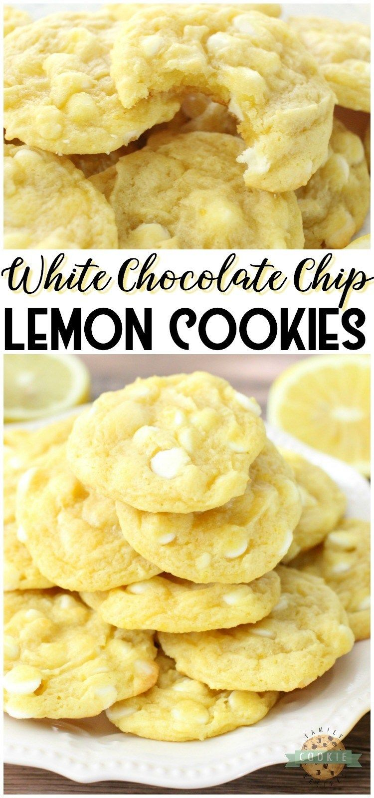Photo of WHITE CHOCOLATE CHIP LEMON COOKIES – White Chocolate Chip Lemon Cookies are soft…