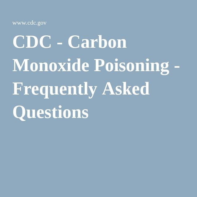 Frequently Asked Questions About Carbon Monoxide Poisoning Pass