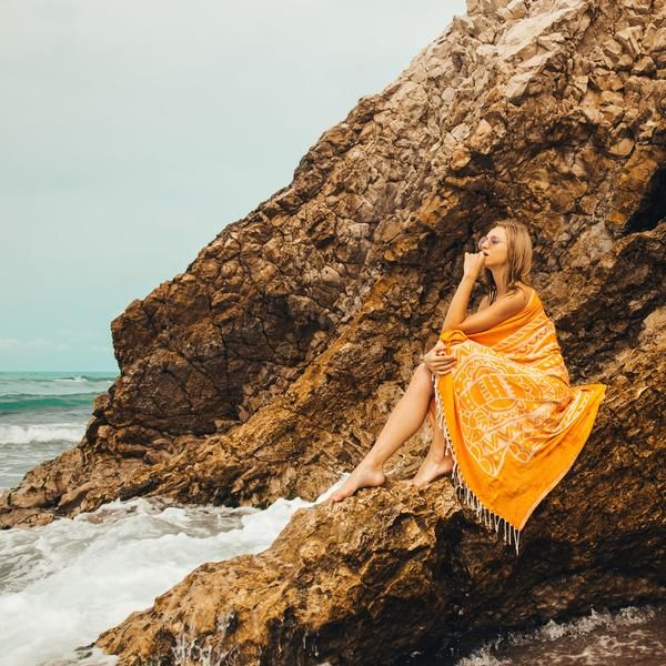 Calfuray Cotton Fellas Beach Towel Purple Dreamcatcher