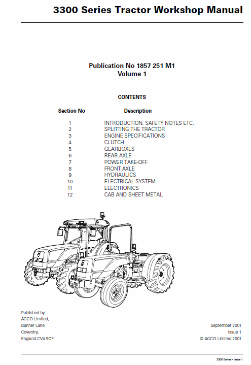 Massey Ferguson Telescopic Loader 8925 8926 Telehandler Workshop Service Manual