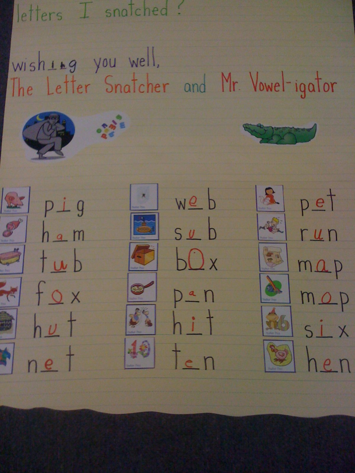 Mr Vowelgator Has To Help The Kids Find The Letter Vowel